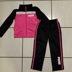 Girls size 4 Puma track suit